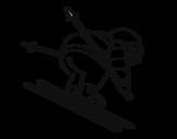 Desenho de Esquiador experiente para colorear