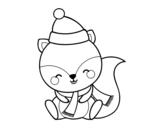 Desenho de Esquilo quente para colorear