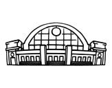 Desenho de Estação ferroviária para colorear