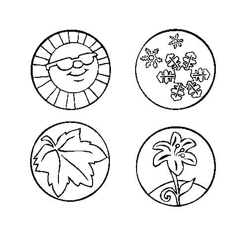 Desenho de Estaçoes do ano para Colorir