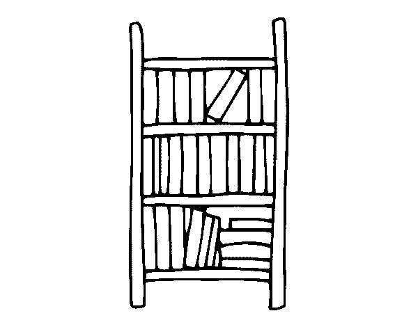 Desenho de estante para colorir for Sala de estar png