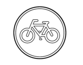 Desenho de Estrada reservada para os ciclos para colorear