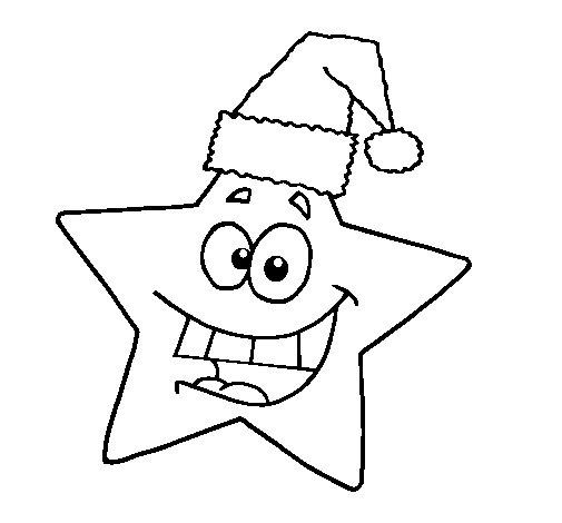 Desenho de estrela de natal para colorir - Dibujos de navidad faciles ...