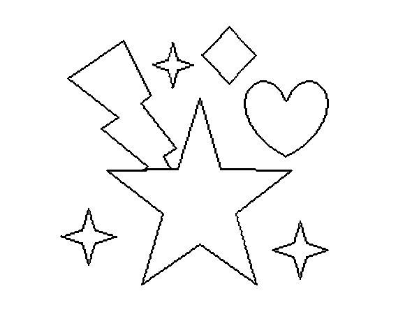 Desenho de Estrelado 2 para Colorir