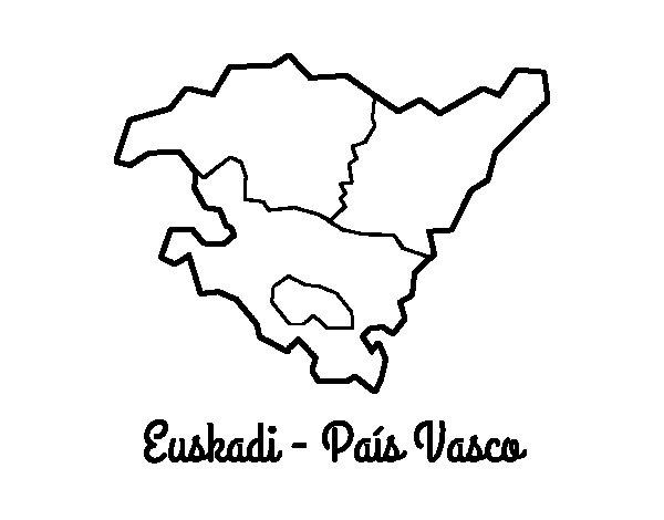Desenho de Euskadi  para Colorir