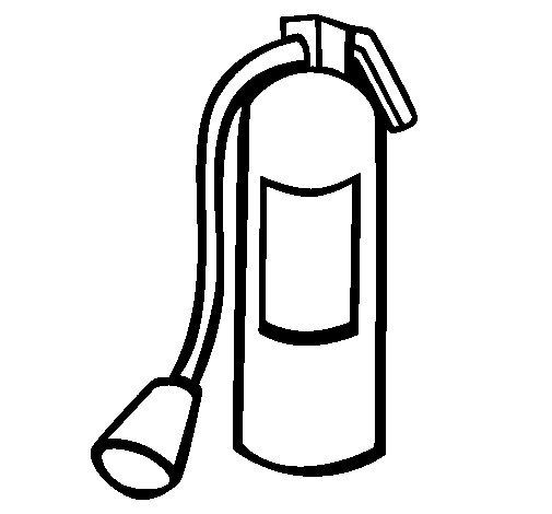 Desenho de Extintor para Colorir