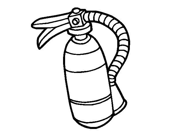Desenho de Extintor de incêndio para Colorir