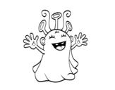 Desenho de Extraterrestre simpático para colorear