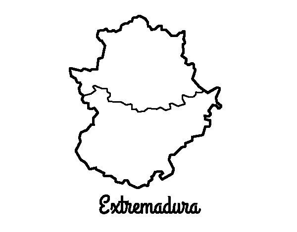 Desenho de Extremadura para Colorir