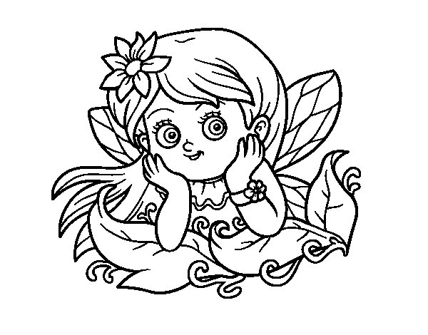 Desenho de Fada bonita para Colorir