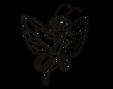 Desenho de Fada borboleta contente para colorear