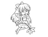 Desenho de  Fada da flor para colorear