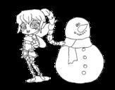 Desenho de Fada da neve para colorear