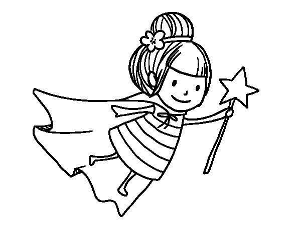 Desenho de fada m gica para colorir - Dibujos de hadas infantiles para imprimir ...