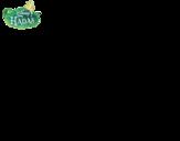 Desenho de Fadas Disney - Rosetta com flor para colorear