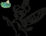 Dibujo de Fadas Disney - Sininho primeiro plano