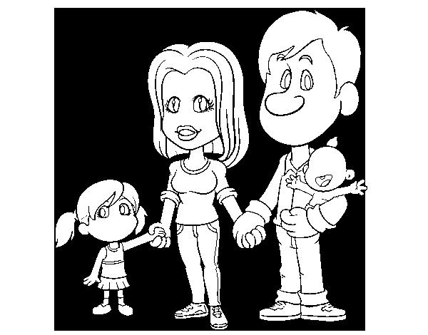 Desenho De Família Feliz Para Colorir
