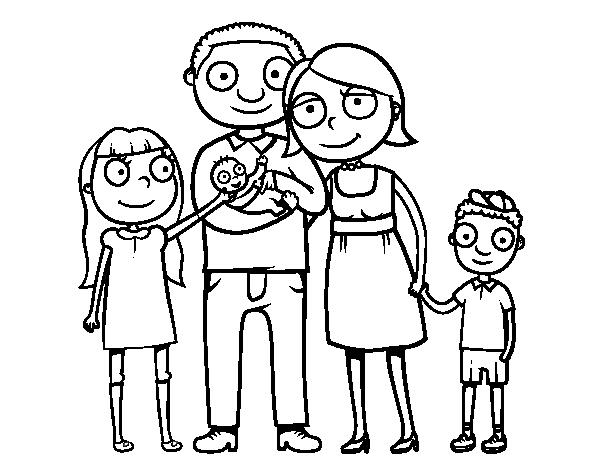 Desenho de fam lia unida para colorir - Coloriage de la famille ...