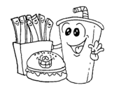 Desenho de Fast-food para colorear
