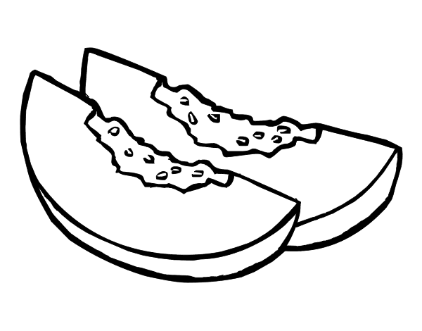 Desenho De Fatias De Melão Para Colorir