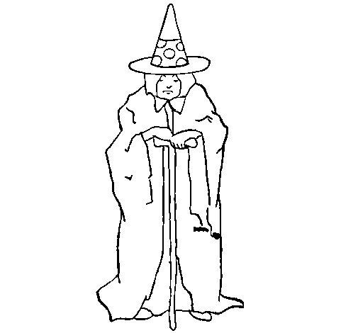 Desenho de Feiticeira misteriosa para Colorir
