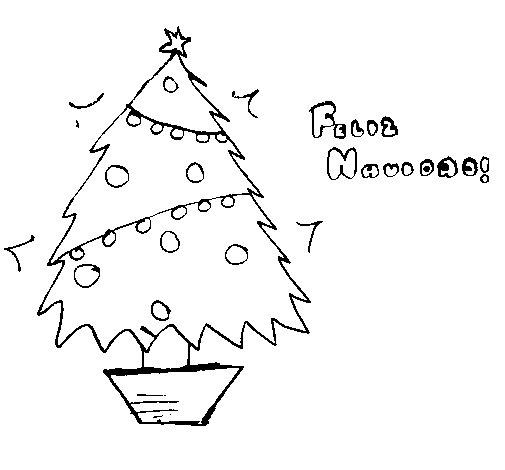 Desenho de Feliz Natal 2 para Colorir