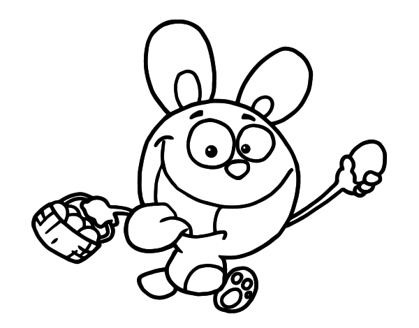 Desenho de Feliz Páscoa para Colorir
