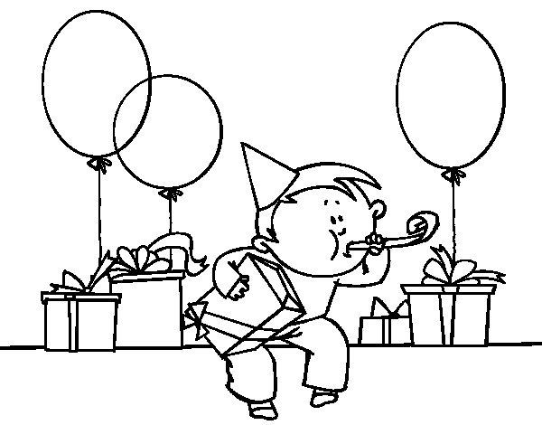 Desenho de Festa de aniversário para Colorir