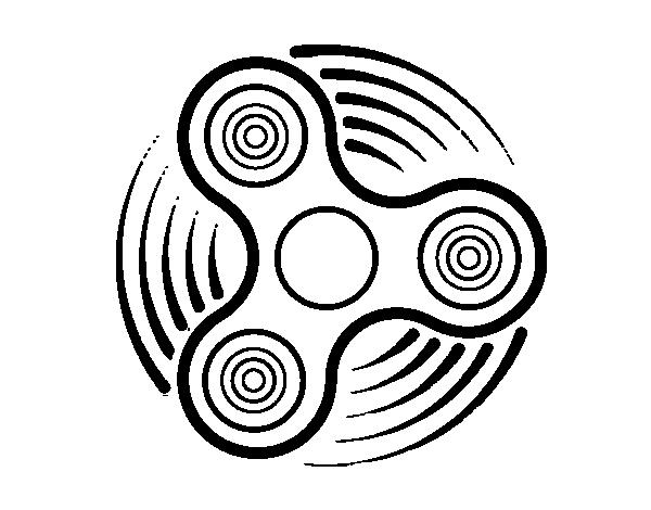 Desenho De Fidget Spinner Para Colorir