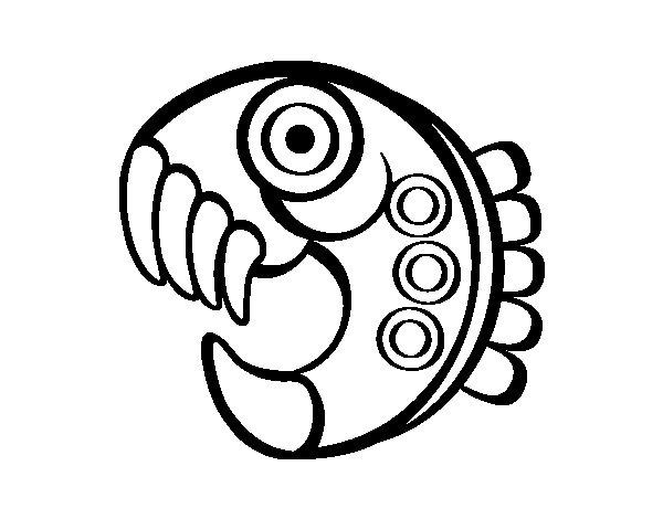 Desenho de Figura asteca para Colorir