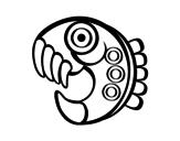 Desenho de Figura asteca para colorear