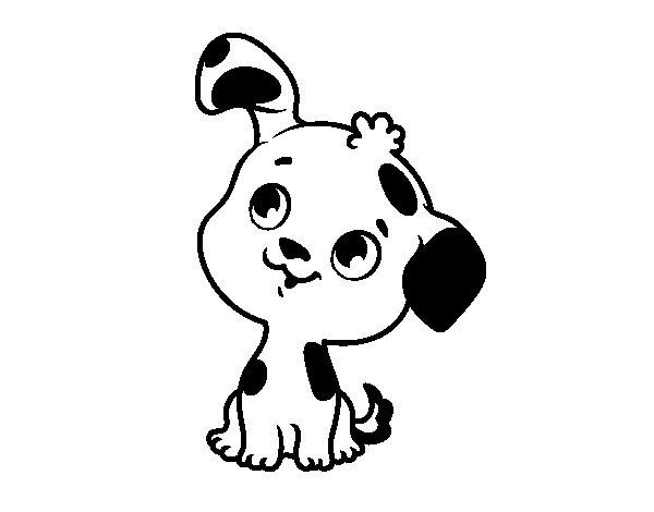 Desenho de Filhote de cachorro para Colorir