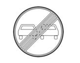 Desenho de fim da proibição de ultrapassagem para colorear