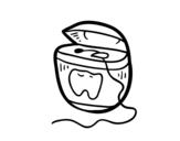 Desenho de Fio dental para colorear