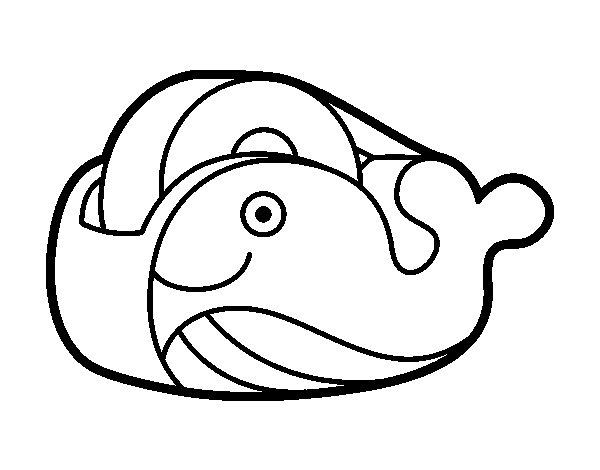 Desenho de Fita adesiva baleia para Colorir