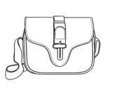 Desenho de Flap bag para colorear
