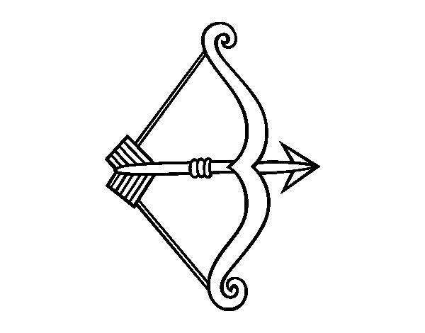 Desenho De Flecha Com Arco Para Colorir