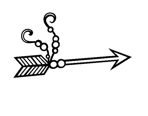 Desenho de Flecha indiana para Colorir