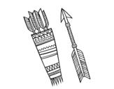 Dibujo de Flechas indianas