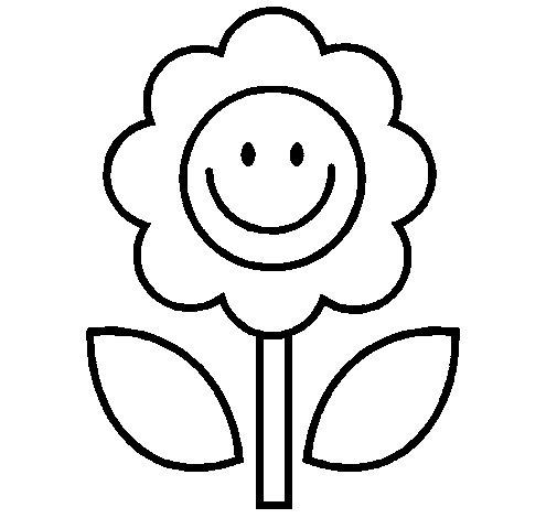 Desenho de Flor 2 para Colorir