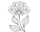 Desenho de Flor decorativa para colorear