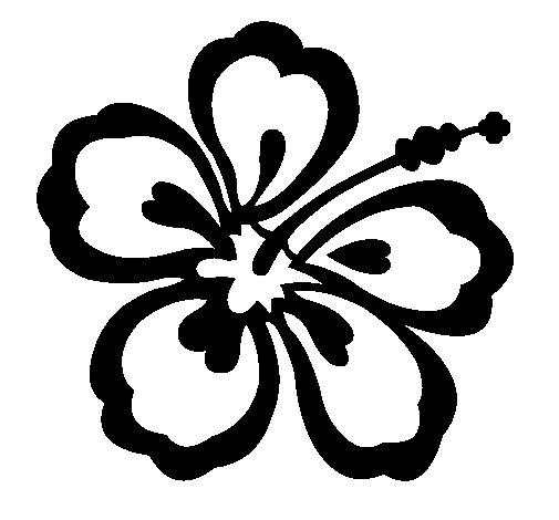 Desenho de Flor surfista para Colorir