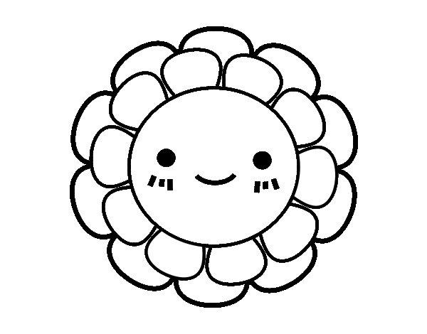 Desenho de Florzinha infantil para Colorir