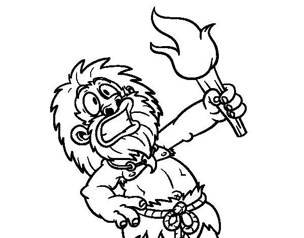 Desenho de Fogo! para Colorir