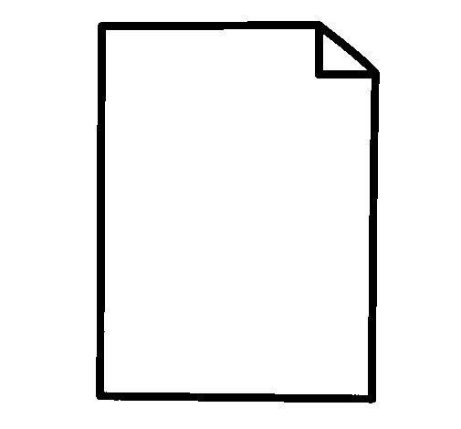 Desenho de Folha de papel para Colorir