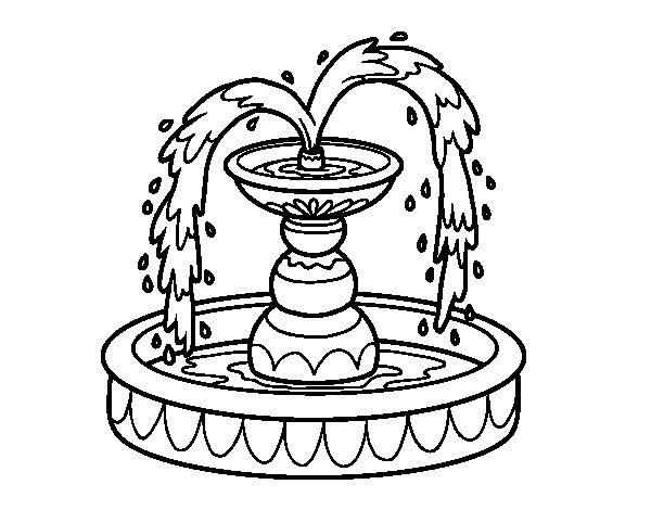 Desenho de Fonte para Colorir