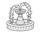 Desenho de Fonte para colorear