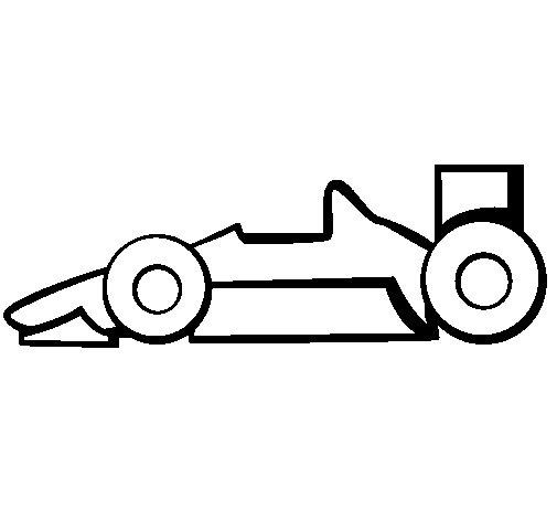 Desenho de Fórmula 1 para Colorir