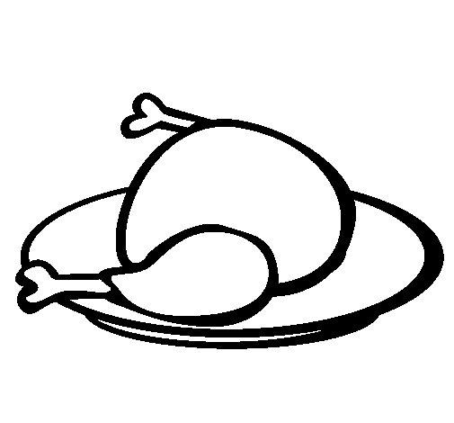 Desenho de Frango para Colorir