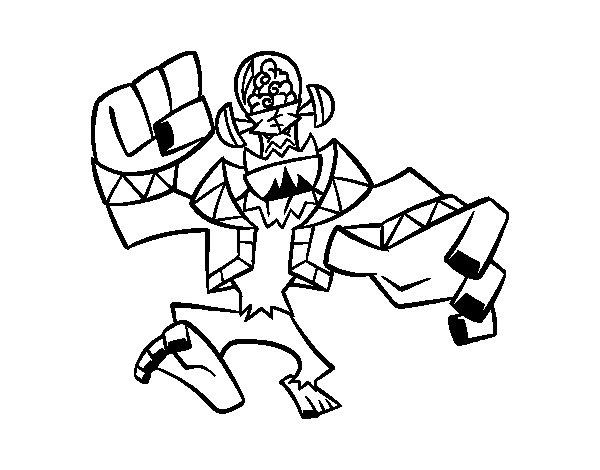 Desenho de Frankenstein malvado para Colorir